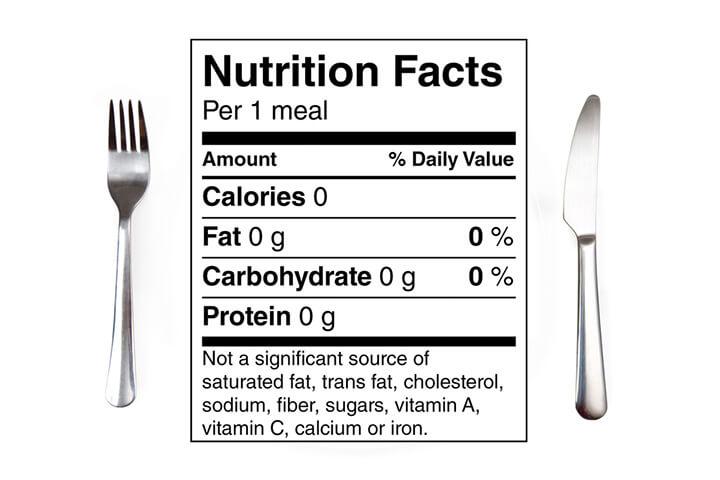 0 calories