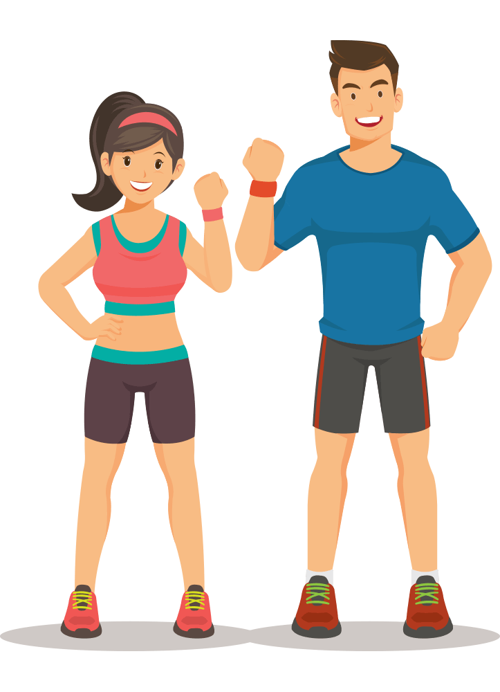healthy man and woman